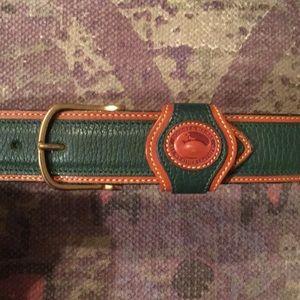 Dooney & Bourke Accessories - DOONEY&BOURKE vtg green leather belt SZ XS